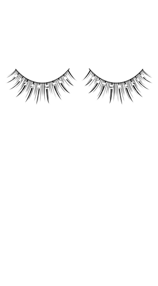 Black and White Rhinestone False Eyelashes
