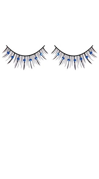 Black and Blue Rhinestone Eyelashes