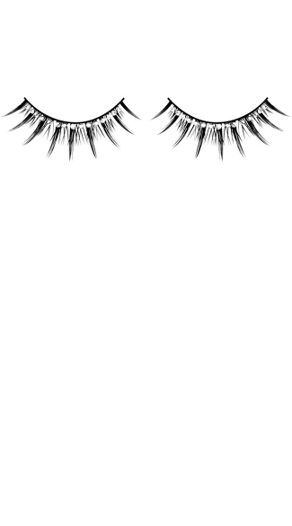 Hot Black and White Rhinestone Eyelashes