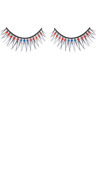 Sexy Black Red, and Blue Rhinestone Eyelashes