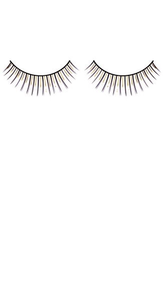 Black and Yellow Deluxe Eyelashes