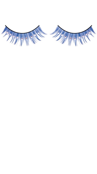 Blue and White Rhinestone Eyelashes