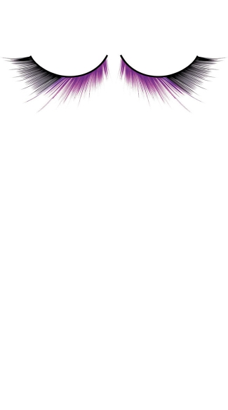 Sexy Black and Purple Deluxe Eyelashes