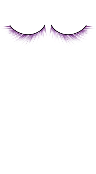 Purple Deluxe False Eyelashes