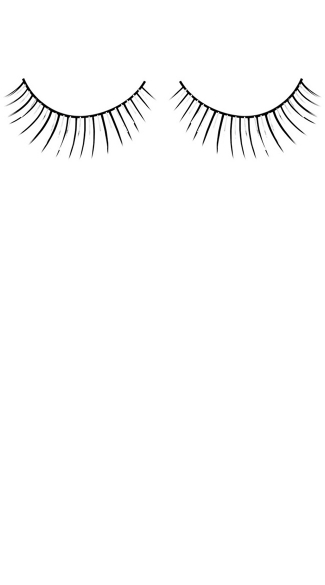 Black and Silver Deluxe Eyelashes