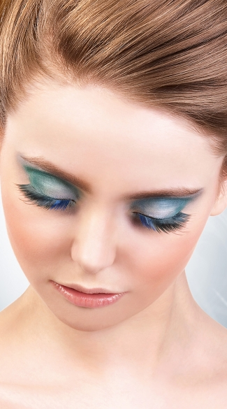 Black and Blue Sexy Deluxe Eyelashes, Black and Blue Fake Eyelashes