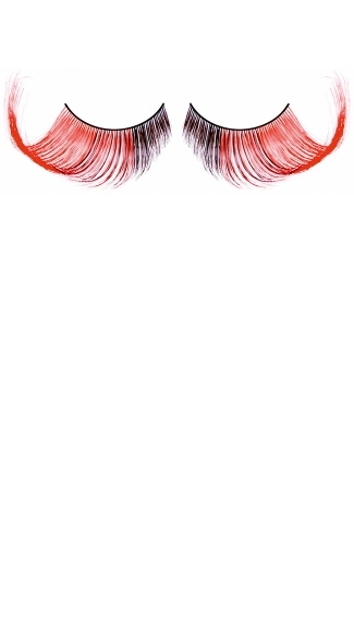 Brown and Red Feather Eyelashes