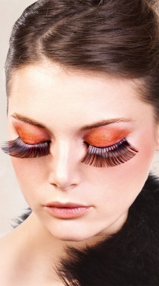 Black and Red Glitter Eyelashes, Black and Red False Eyelashes