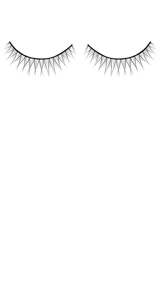 Hot Black Premium Adhesive Eyelashes