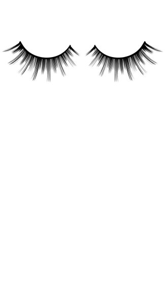 Hot Black Deluxe Adhesive Eyelashes