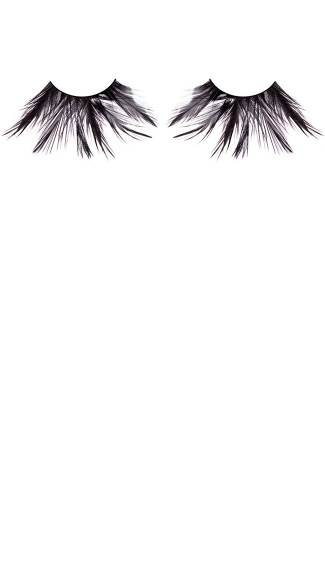 Exotic Black Feather Eyelashes