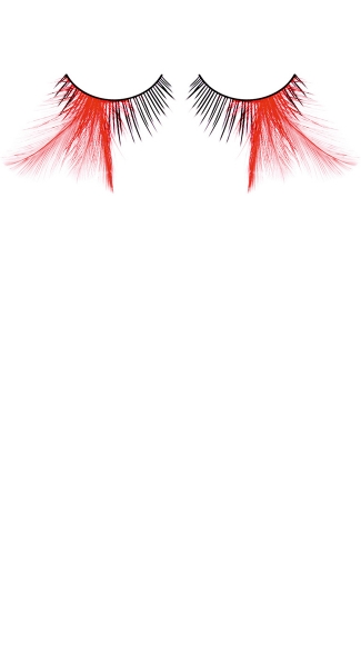 Sexy Black and Red Feather Eyelashes