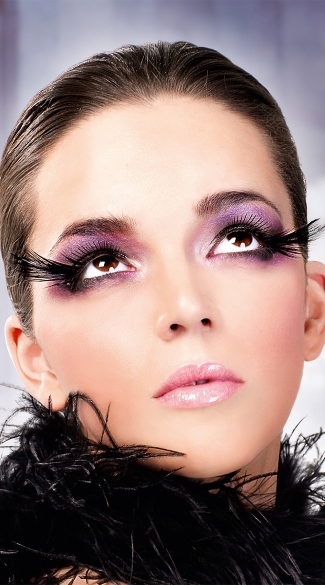 Breathtaking Black Feather Eyelashes, Black Feather False Eyelashes