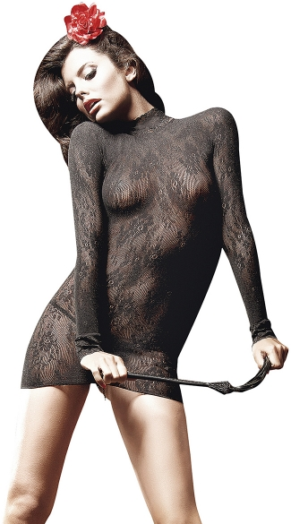 Long Sleeve All Over Lace Chemise