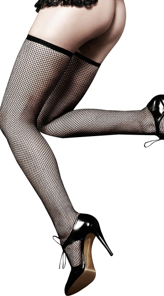 Black Fishnet Thigh Highs