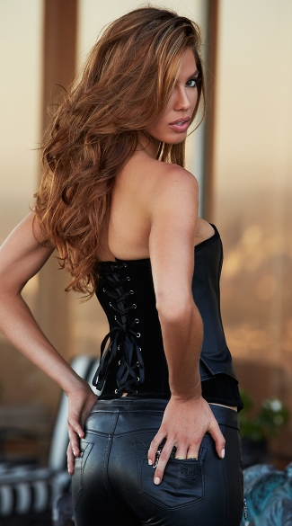 Suede And Leather Corset