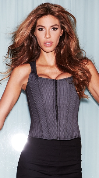 Suit Inspired Tank Corset