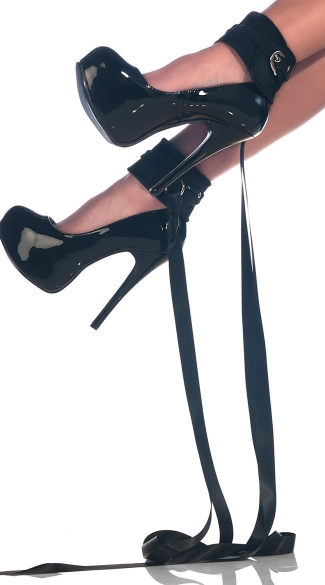 Sexy Ankle Restraints with Buckles, Ankle Restraints with Ribbon Ties, Fetish Ankle Cuffs