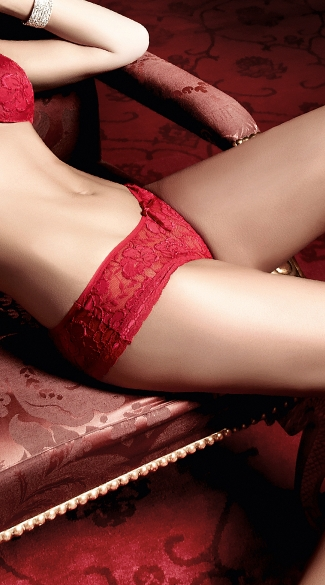 Hot Lover Red Lace Boyshort