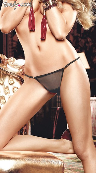 Sheer Black Mesh G-string
