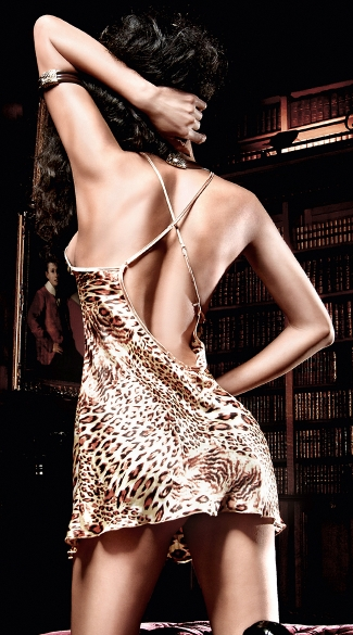 Satin Animal Print Chemise