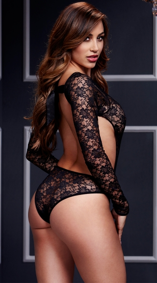 Black Lacy Bodysuit