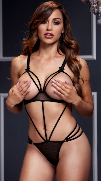 Open Cup Strappy Bodysuit, Strappy Teddy, Strappy Bodysuit