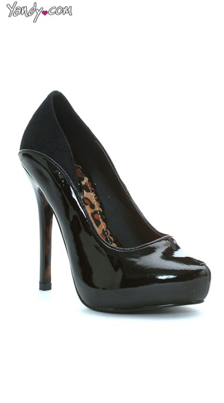 Two Tone 5 Inch Patent Heel