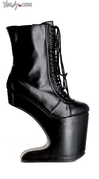 High Rise Lace Up Motor Boot Platform