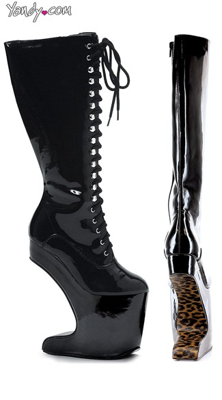Lace Up Anti Gravity Knee-High Platform Boots