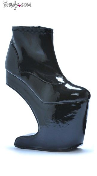 Black Ankle Anti Gravity Wedge Boot