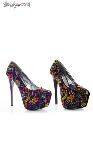 Multi-Colored Beaded Platform Pump