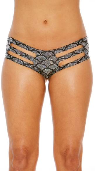 Strappy Metallic Scale Panty