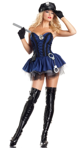 Sergeant Stunner Costume, Sexy Cop Costume for Women, Sexy Police Woman Costume