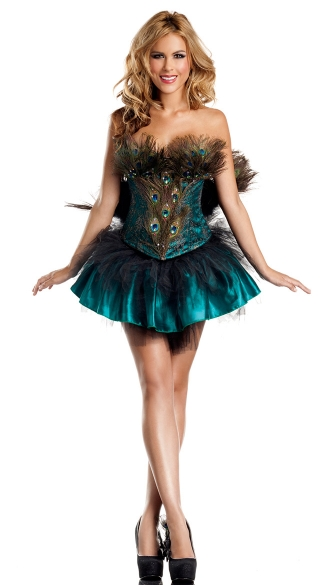 Sexy Peacock Princess Costume, Sexy Peacock Dress, Peacock Costume for Women