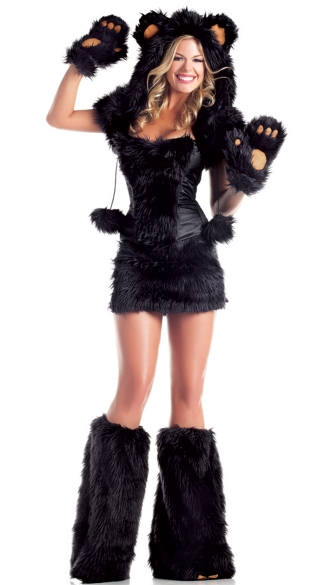 Black Bear Beauty Costume, Sexy Bear Costume for Women, Furry Costume, Teddy Bear Costume for Women