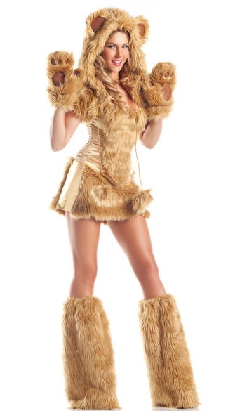 Golden Bear Beauty Costume, Sexy Bear Costume for Women, Furry Costume, Teddy Bear Costume for Women