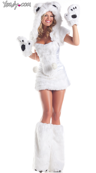 Polar Bear Babe Costume, Adult Women Polar Bear Costumes, Sexy Polar Bear Outfits