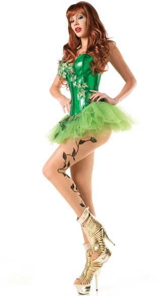 Sexy Ivy Costume, Green Ivy Costume, Womens Ivy Halloween Costume