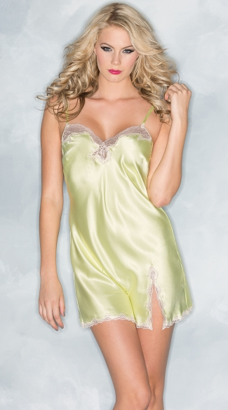 Plus Size Satin and Lace Sleepwear Chemise