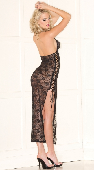 Lace Beauty Lingerie Gown