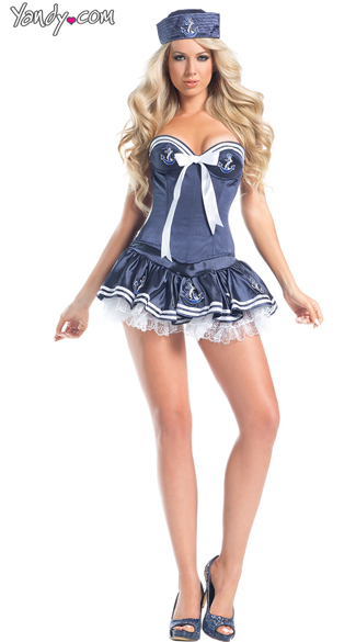 Mistress of the Sea Costume, Sexy Sailor Costume, Sailor Costume