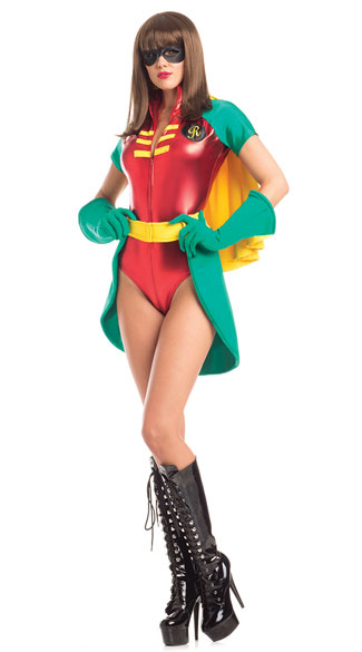 Radiant Robyn Costume, Sexy Sidekick Costume, Superhero Sidekick Costume
