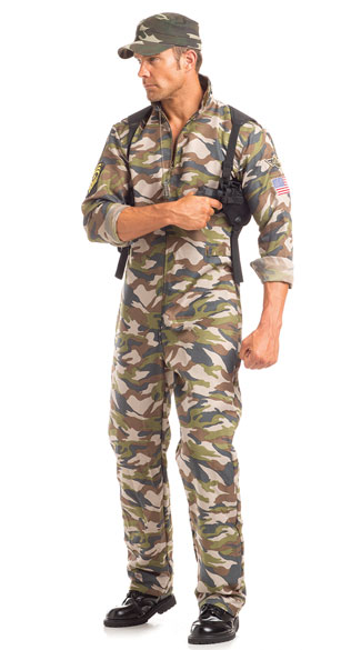 Men\'s Scrumptious Sergeant Major Costume, Men\'s Army Costume, Men\'s Sergeant Costume