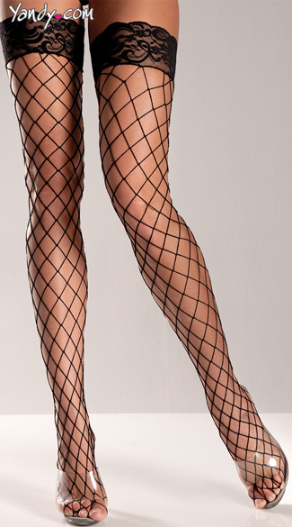 Sexy Fence Net Thigh Highs, Lace Top Thigh Highs, Colorful Thigh Highs