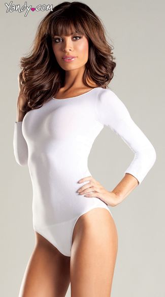 Flirty Long Sleeve Opaque Bodysuit