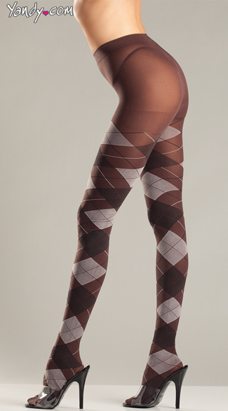 Sexy Sophisticated Argyle Tights