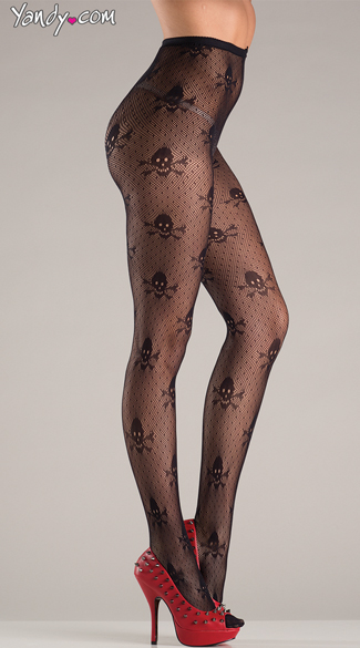 Skull And Crossbone Pantyhose