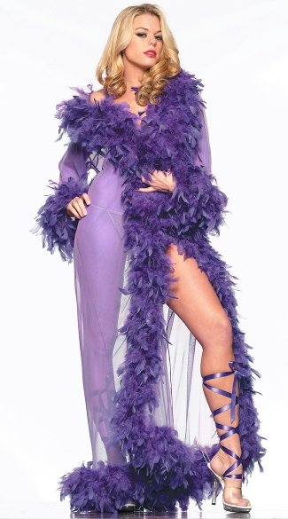 Deluxe Purple Feather Robe