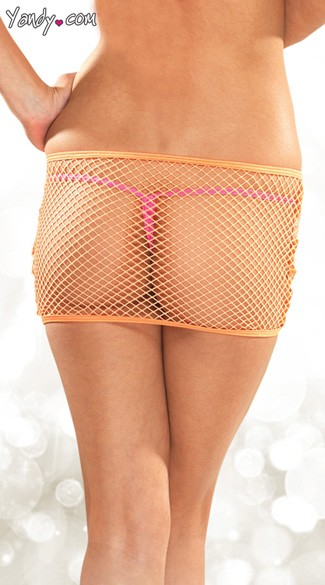 Fishnet Fetish Mini Skirt
